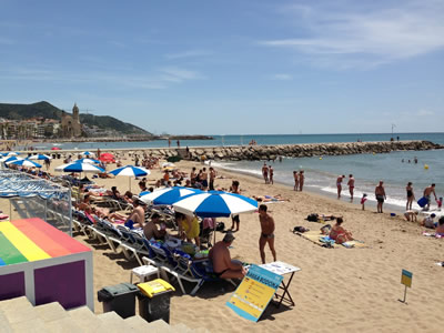 The gay beach in Sitges, Spain