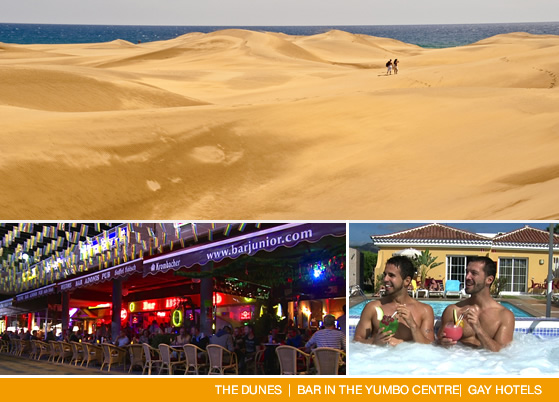 Gay dunes and Yumbo Centre - Gran Canaria