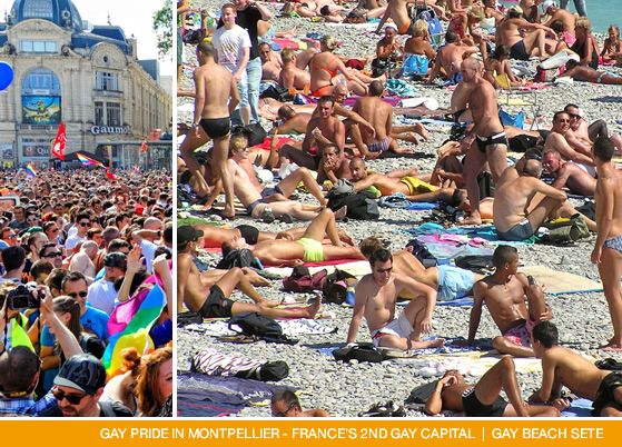 Gay Montpellier and gay beaches