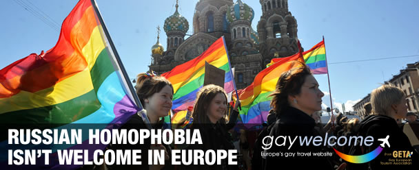 Russian homophobia isn't welcome in Europe