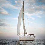 Sailing off Barcelona