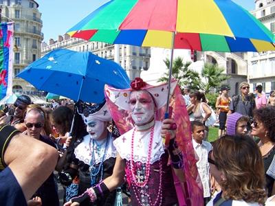The Maiseille Gay Pride a big pride parade
