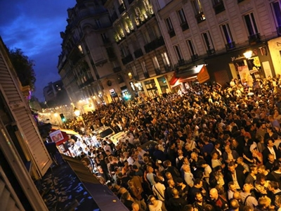 Gay Fête de la Musique in the Marais, Paris