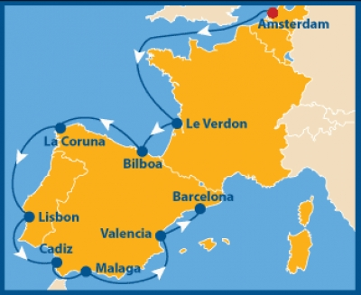Amsterdam to Barcelona Cruise